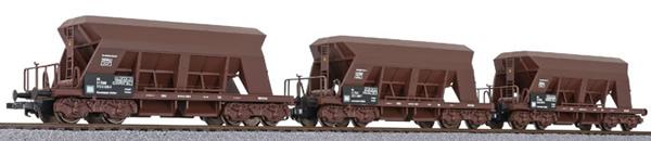 Liliput 230143 - 3pc gravel hopper wagon set