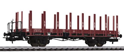 Liliput 235040 - flat wagon SBB  ep.IV  with wood stanchion