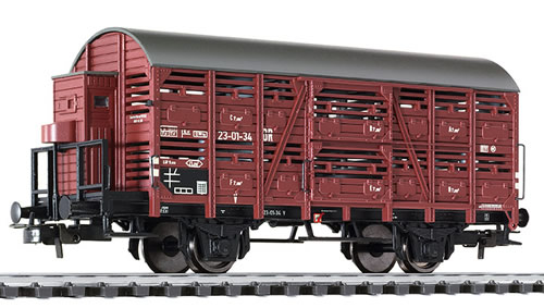 Liliput 235109 - Cattle wagon with brakemans cab, DR epoch III