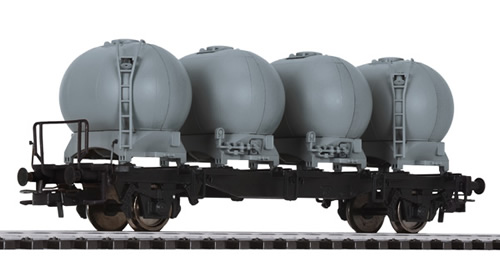 Liliput 235130 - Flat Wagon with Four Containers LBs584 DB Ep.IV