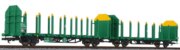 Liliput 235244 - Timber Carrier Wagon, VTG, grün-gelb