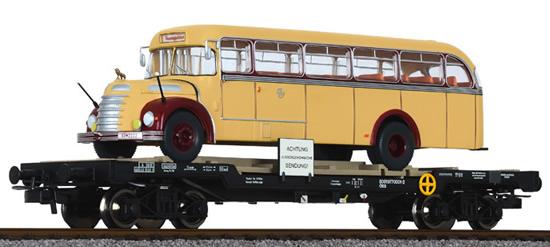 Liliput 235783 - flat wagon OBB with omnibus Graef+Stift vers.3
