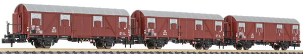 Liliput 260130 - 3pc Covered Wagon Set type Glmhs 50