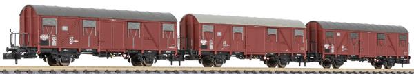 Liliput 260132 - 3pc Covered Wagon Set type Gos 245