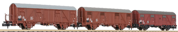 Liliput 260133 - 3pc Covered Wagon Set type Gos 1404