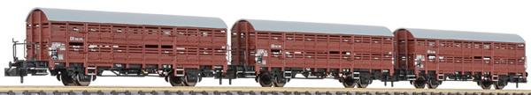 Liliput 260134 - 3pc Freight Car Set type Hbes-63 Vlmms