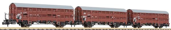 Liliput 260135 - 3pc Freight Car Set type Hbes 358