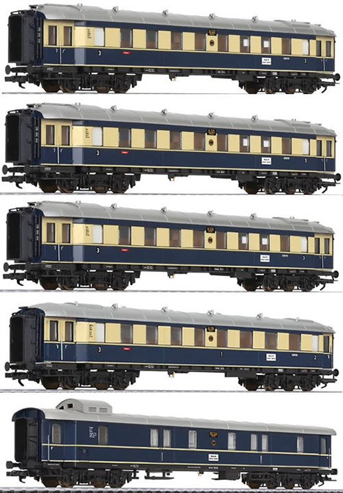 Liliput 330500 - German 5pc Passenger Coach Set Karwendel Express of the DRG