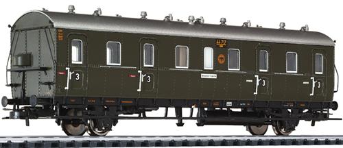 Liliput 334027 - Passenger Coach 3rd Class Cdtr 21/31 DRG + Load Comp.  EP II