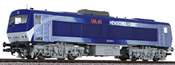 Diesel Locomotive DE2500 Silver / Blue