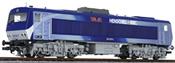 Diesel Locomotive DE2500 Silver / Blue