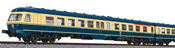 German 3pc RailCar Set DMU BR 614 of the DB - Sea blue / Beige