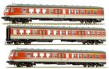 German 3pc RailCar Set DMU BR 614 of the DB - Orange & Grey