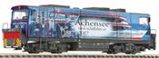 Diesel Locomotive D15 of the Zillertalbahn, with advertising design of Tirol-Schiffahrt