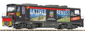 Diesel Locomotive D15 Black Beauty of the Zillertalbahn, advertising of the Zillertal tourism