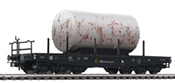 Flat Car with 3-axle Bogies with Load - Weathered DB Ep.III