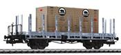 flat wagon SBB ep.III with wood stanchion+ box loading