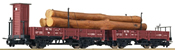 Twin Pivot Open Wagon Set with Timber Load RSE Ep.III