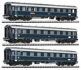 German 3pc Passenger Car Set Dompfeil of the DB