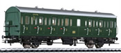 German 2nd Class Passenger Coach B-21 43314 Hmb of the DB