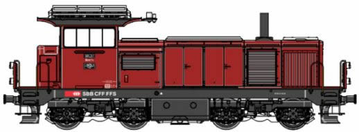 LS Models 17066 - Swiss Diesel Locomotive 18437 of the SBB