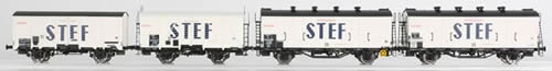 "LS Models 30396 - 4pc Refrigerator Car Set OCEM ""STEF"" of the SNCF"