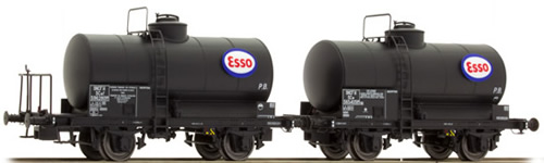 "LS Models 30442 - 2pc Tank Car Set OCEM ""ESSO"" of the SNCF"