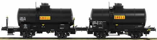 "LS Models 30443 - 2pc Tank Car Set OCEM ""SHELL"" of the SNCF"