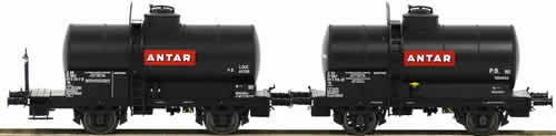 "LS Models 30446 - 2pc Tank Car Set OCEM ""ANTAR"" of the SNCF"