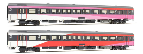 LS Models 44067 - 2pc Passenger Coach Set 3 ICRm of the NS