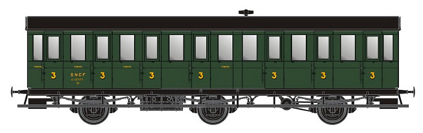 LS Models MW31902 - 3rd class passenger car type C7t of the SNCF