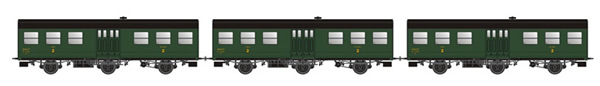 LS Models MW31907 - 3pc passenger car set 2nd class, type B6t of the SNCF