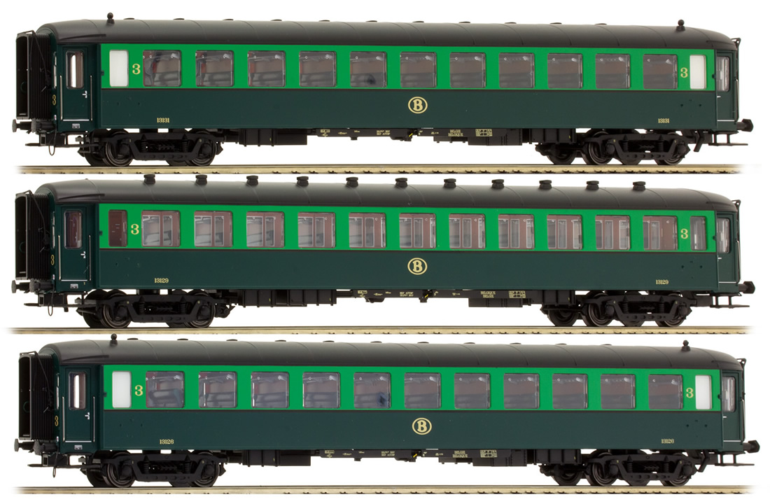 lsmodels LS Models 42108 - 3pc Passenger Coach Set I2 C + I2 C + I2 C of the SNCB