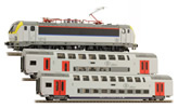 Belgian Electric Locomoitve 1815 & Passenger Coach Set of the SNCB -  3pcs (DCC Sound Decoder)