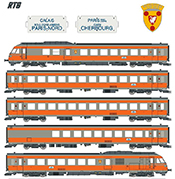 French 5-Car RTG Rail Car of the SNCF Coat Of Arms Boulogne Sur Mer) SOUND AC 3-Rail
