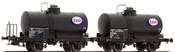 "2pc Tank Car Set OCEM ""ESSO"" of the SNCF"