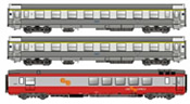 3pc passenger car set of the SNCF