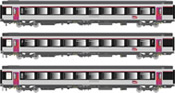 3pc Express Train Passenger Car Set of the SNCF