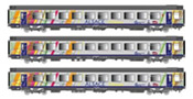 "3pc Passenger Coach Set VTU/VU ""Alsace s"
