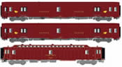 3 pcs postal carriage set SNCF