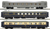 3pc Passenger Coach Set Mistral 56 of the SNCF