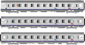 3-pc. Passenger Car set VTU of the SNCF