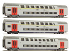 3pc Passenger Coach Set A, A & B of the SNCB