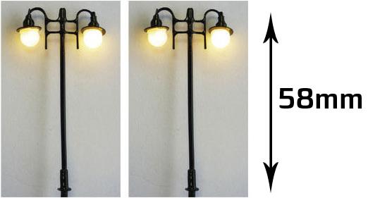 Mabar 60174-HO - 2 double streetlights with LED