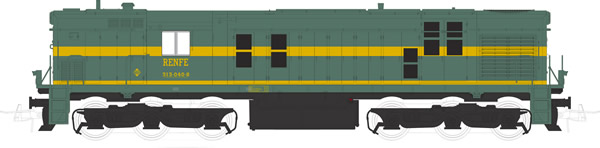 Mabar M-81310s - Spanish Diesel Alco Locomotive 1329 of the RENFE (DCC Sound Decoder)
