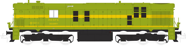 Mabar M-81311 - Spanish Diesel Alco Locomotive 1305 of the RENFE