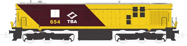 Mabar M-81314s - Spanish Diesel Alco Locomotive 654 of the TBA (DCC Sound Decoder)