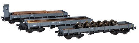 Mabar M-81402 - 3pc Flat Car Set with load