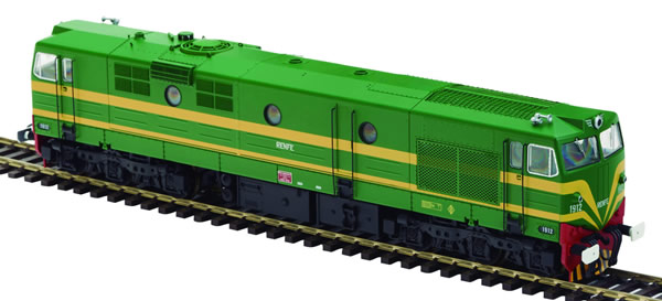 Mabar M-81510s - Spanish Diesel locomotive 1912 of the RENFE (DCC Sound Decoder)