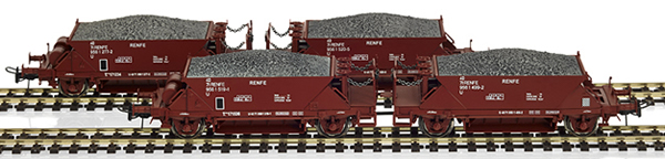 Mabar M-81716 - 4pc Hopper Wagon Set RENFE brown